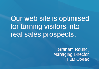 Our website is optimised for turning visitors into real sales prospects