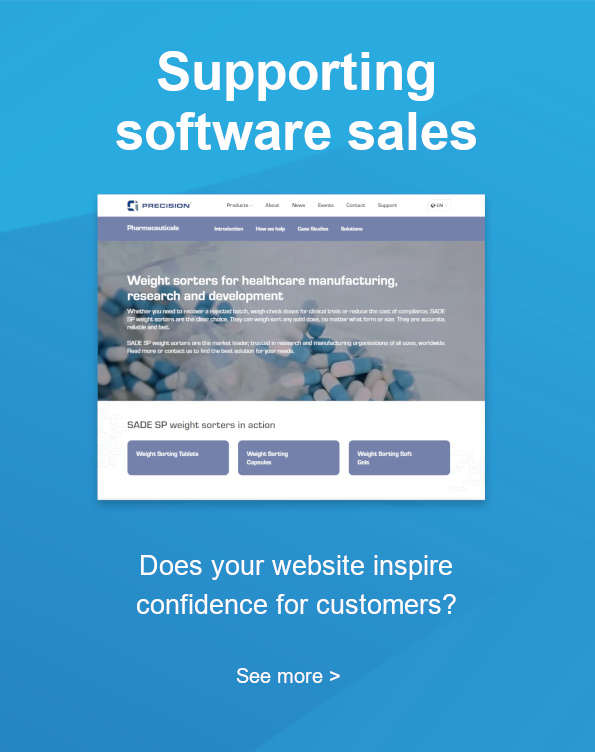 Supporting software sales